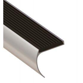 Profilé argenté arrondi 44 x 45 x 1000 mm - 1 pièce